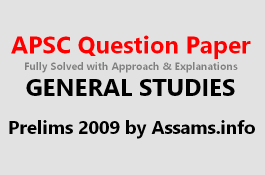 Solved APSC Question Paper